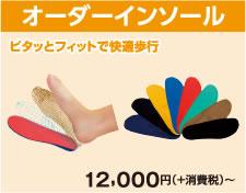 オーダーインソール¥12,000+消費税~