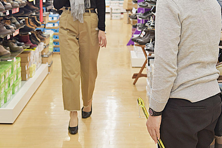 大人の足の計測